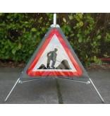 Three sided traffic sign workman A31