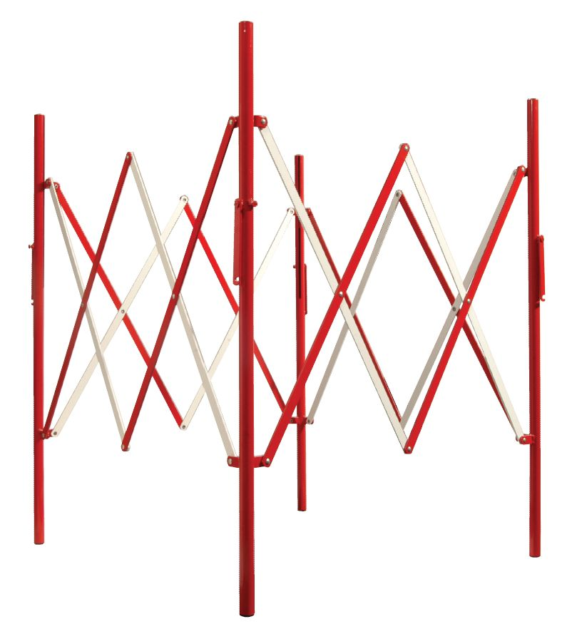 Uitrekbaar vierkant vouwhek 1m²