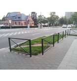 Fence St. Andries cross  163 x 88 cm Green (RAL 6009)