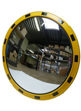 Mirror for industry (Round) 800 mm - yellow/black frame