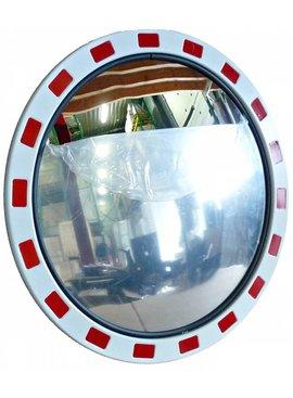 Miroir de traffic Rond 800 mm rouge/blanc