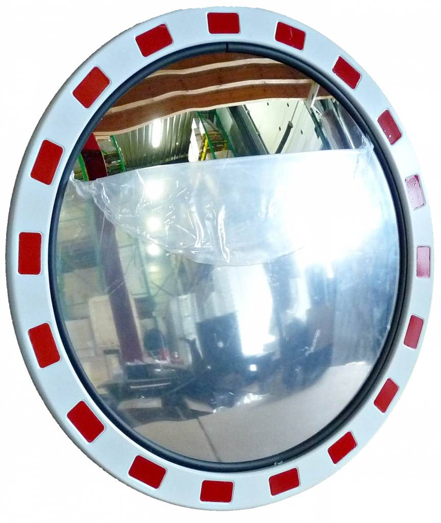 Traffic mirror Round 800 mm red/white