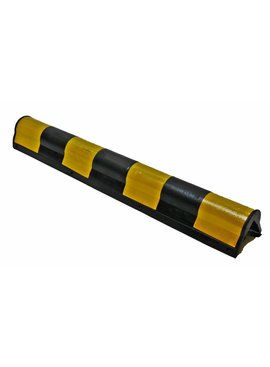 PROTECTEUR DE COIN 800 x135 x10 mm arrondi - jaune/noir