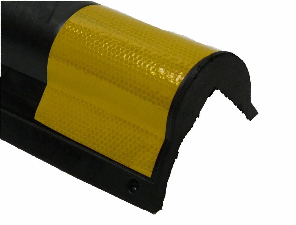 HOEKBESCHERMER 800 x135 x10 mm afgerond - geel/zwart