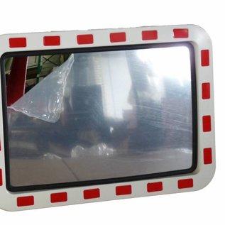 Verkeersspiegel 400 x 600 mm - rood/wit