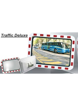 Miroir de traffic 400 x 600 mm  rouge/blanc
