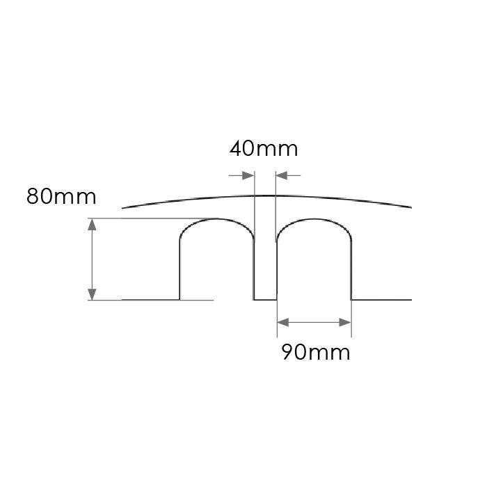 Verkeersdrempel 'SLOWLY' 10 cm - voor industriële werven