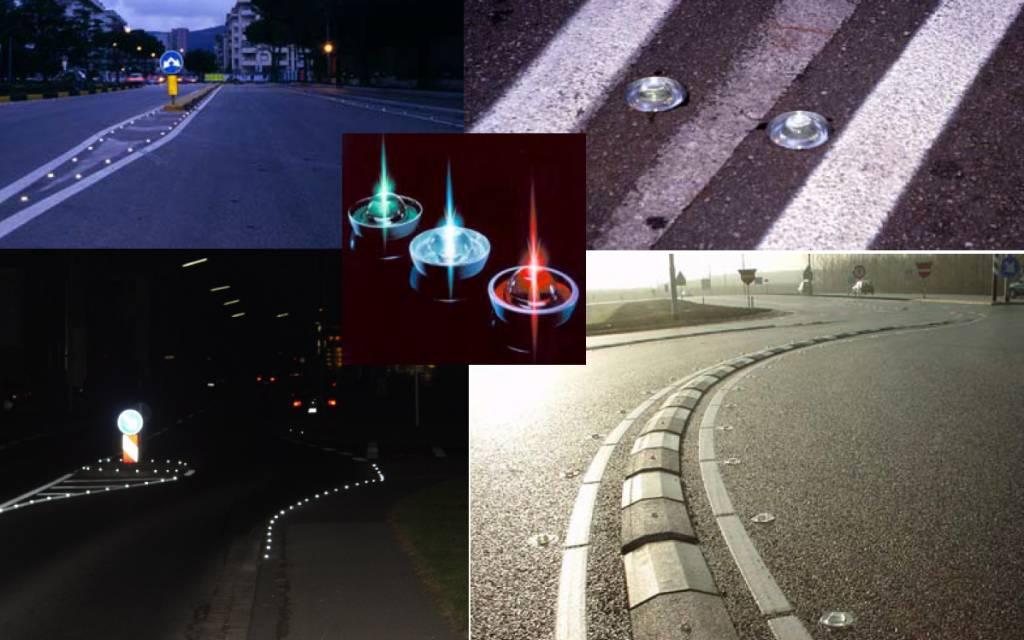 Glass road stud - White - diameter 100 mm - height 45 mm