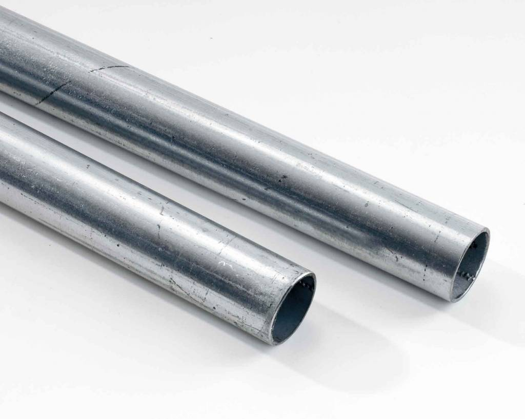 Galvanized steel pole for mirrors with diam. 76 mm