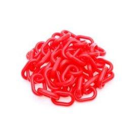 Rode fluoricerende polyetheleen ketting van 10 meter, Ø  6 mm