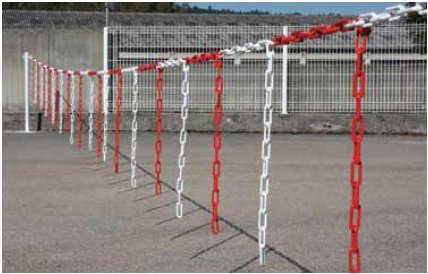 5M X 6MM PLASTIC LARGE LINK COLOUR CHAIN CHUNKY GARDEN BARRIER FENCE FENCING