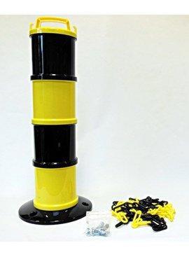 Modulair baken Geel / zwart Ø 200 mm + 5 m ketting