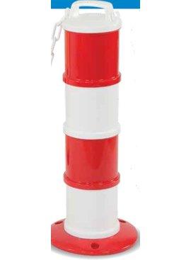 Balise modulaire Rouge / Blanc Ø 200 mm + 5 m de chaîne