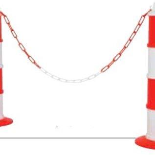 Modulair baken Rood / Wit Ø 200 mm + 5 m ketting
