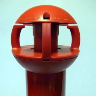 Poteau aluminium de 97 cm x Ø 60 mm, 4 crochets + soccle avec 2 réflecteurs