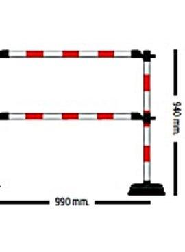 """Extra mètre de barrière """"Express"""" - 2 lisses Rouge / Blanc"""