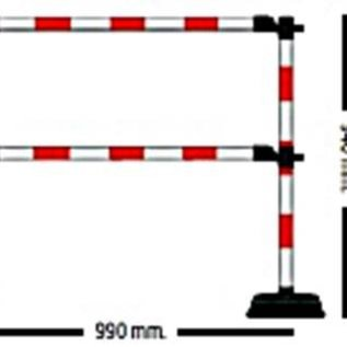 """Extra meter """"Express"""" barrier - 2 crossbars Red / White"""