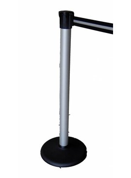 Aluminum post with belt color black / silver 3 m.