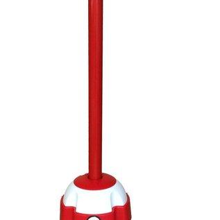 Rood gelakt aluminium paal met haspel incl. rood lint 3 m x 50 mm