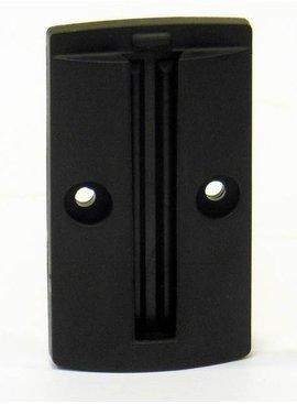 Wandplaat voor het fixeren van een 50 mm afzet band/lint