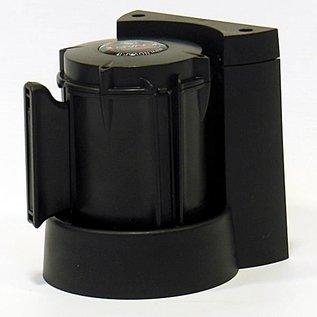 Haspel met magneet en met afzetlint van 3 m x 50 mm Rood - Zwart