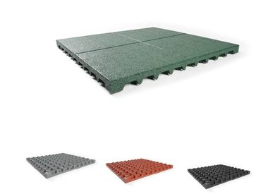 Security rubber tiles