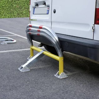 Arceau de parking avec ressorts et serrure cylindrique 970 x 405 x 650 mm Ø 60