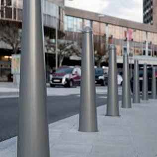 Amsterdammertje street bollard galvanised and powdercoated in RAL colour - fixed