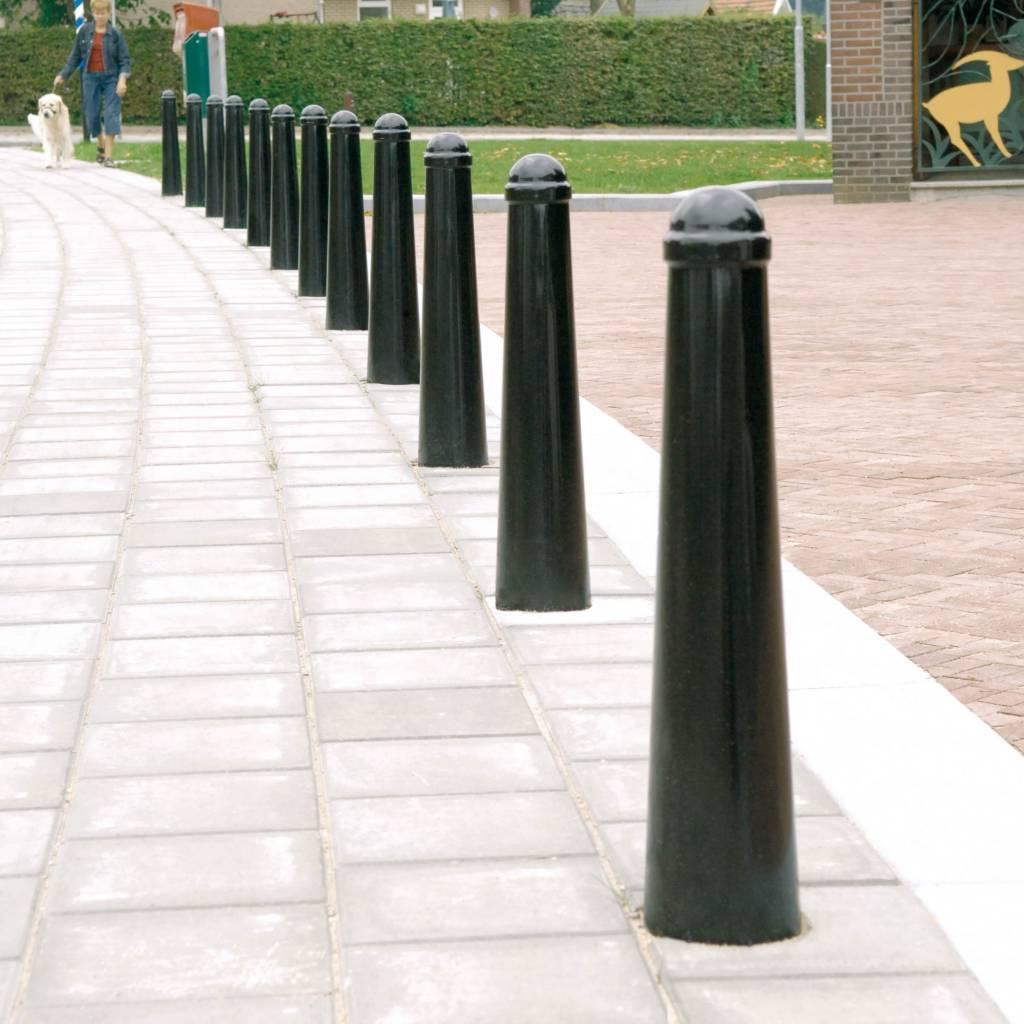 Paaltje Amsterdam - uitneembaar met sokkel in RAL kleur