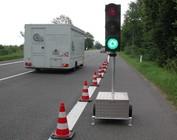 Temporary traffic lights