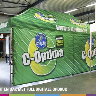 8X4M TENT - VALANCE AND ROOF FULL COLOUR PRINTED