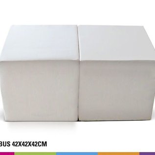 Seat cube 42cm - white or black (unprinted)