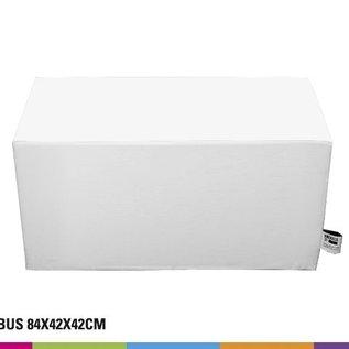 Seat cube  84x42x42cm - white or black (unprinted)