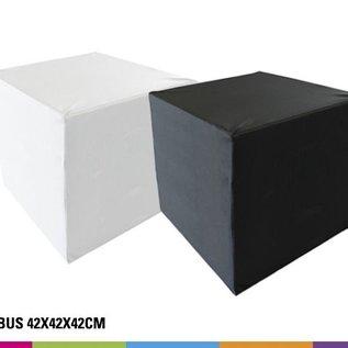 Zitkubus 42 cm - Wit of Zwart (onbedrukt)