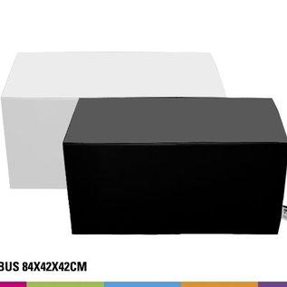Zitbank 84x42x42cm - Wit of Zwart (onbedrukt)