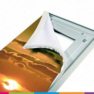 Textielframe op maat: enkel doek (prijseenheid per lm)
