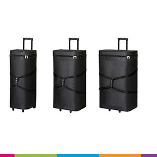 Carry bag - Case - 43x30x85cm inside size - black with wheels and extendable handle