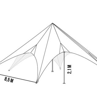 Startent 80 (17M diam) - Zand - Velcro