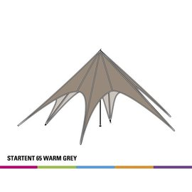 Startent Basic 65 (16M diam) - Warm grey - Velcro