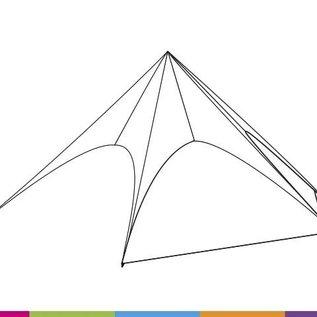 Zijwand Startent - Wit ST40 - (13M) - KR (Velcro)