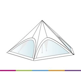 Sidewall startent - Panorama window  -  White ST40 (13M) KR (Velcro)