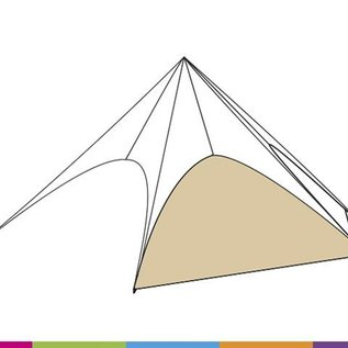 Zijwand Startent - Zandkleur (p468) - ST80 (17M)- KR (Velcro)