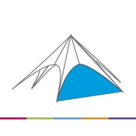 Zijwand Startent - Standaard kleur - ST15 (8M) KR (Velcro)