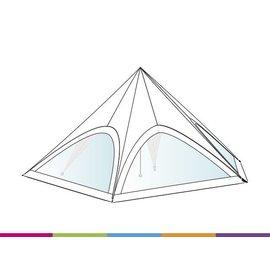 Zijwand Startent - Panoramavenster - Wit ST45 (14M) KR (Velcro)