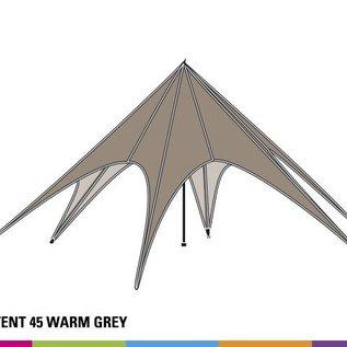 Zijwand Startent - Panoramavenster - Warm grey - ST65(16M)- KR (Velcro)