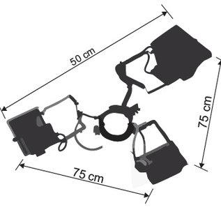 Verlichting Tent Startent - 3X400W + klem voor paal