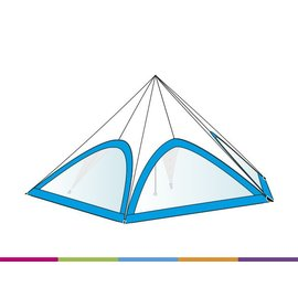 Zijwand Startent - Panoramavenster - Standaard kleur - ST15 (8M)- KR (Velcro)