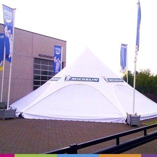 Zijwand Startent - Wit ST45 (14M) - KR (Velcro)