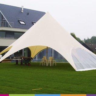 Zijwand Startent - Panoramavenster - Warm grey - ST45 (14M)- KR (Velcro)