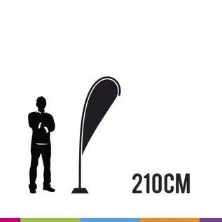 Vlag drop 210cm - strong fiber mast